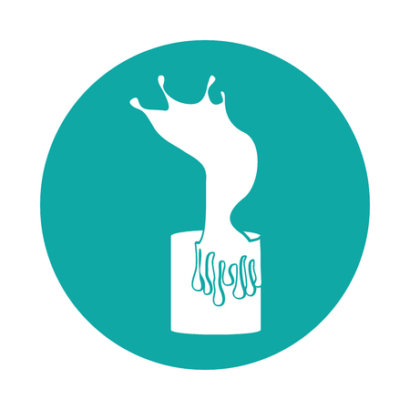 Splashing paint pot icon vector illustration design
