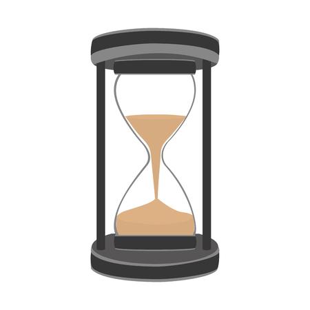 zandloper tijd geïsoleerd pictogram vector illustratie ontwerp Stock Illustratie
