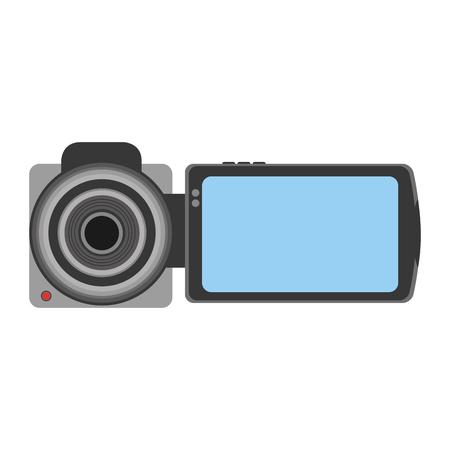 Handige camera geïsoleerde pictogram vector illustratie ontwerp Stock Illustratie