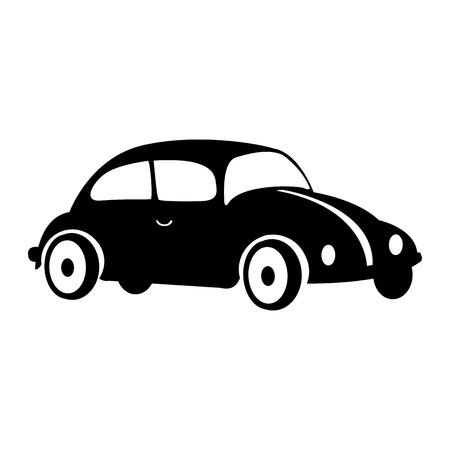 car beetle isolated icon vector illustration design