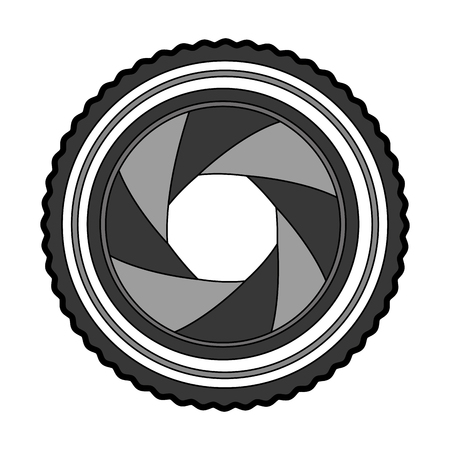 lens photographic isolated icon vector illustration design