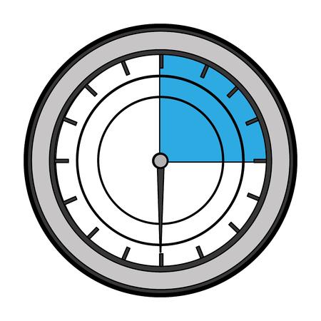 pressure gauge isolated icon vector illustration design Illustration