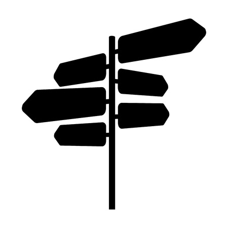 signal with arrows icon vector illustration design