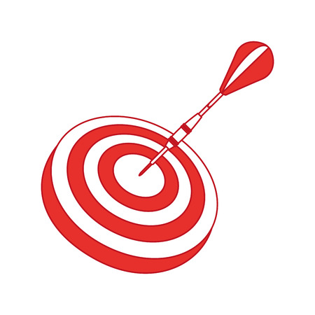 target goal with dart isolated icon vector illustration design