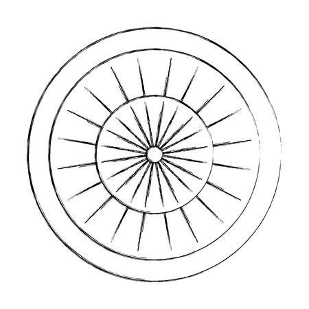 目標は、アイコン ベクトル イラスト デザインを分離しました。