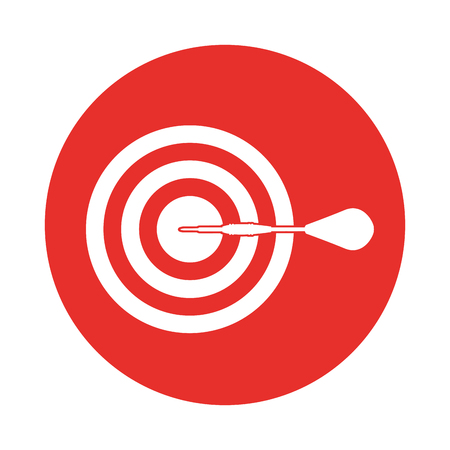 target goal with dart isolated icon vector illustration design Stock Vector - 78927814