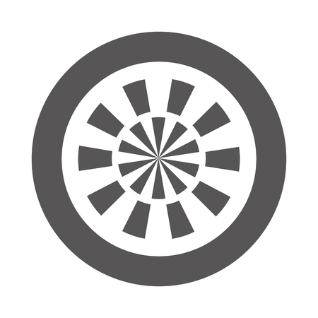 target goal isolated icon vector illustration design