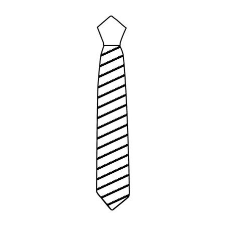分離されたエレガントなネクタイのアイコン ベクトル イラスト デザイン  イラスト・ベクター素材