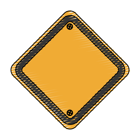 traffic sign empty icon vector illustration design Illustration