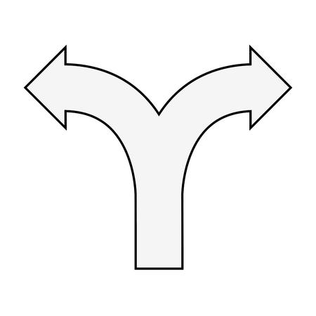 intersección icono de señal de tráfico ilustración vectorial diseño