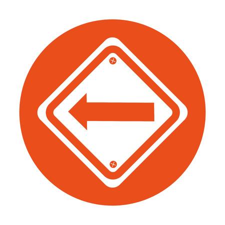 signal de trafic avec la conception d'illustration de vecteur de flèche gauche Vecteurs