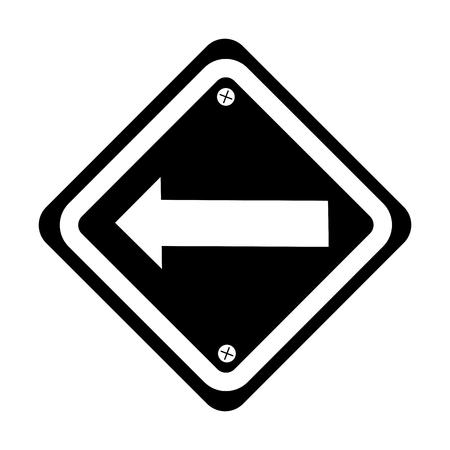 signage: traffic signal with left arrow vector illustration design Illustration