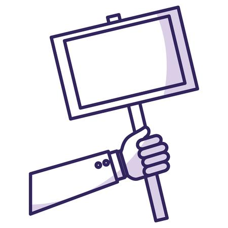 hand human with protest label vector illustration design 版權商用圖片 - 78952419