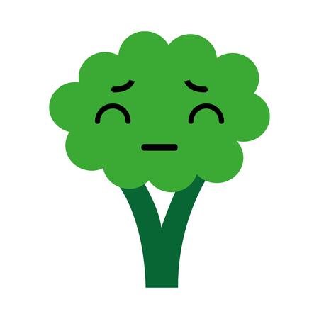 kawaii Broccoli cartoon vector illustratie grafisch ontwerp