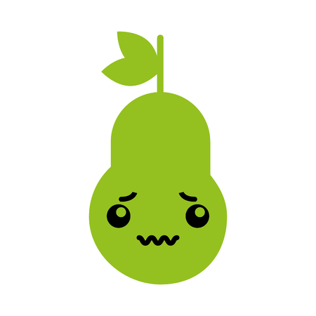 kawaii pear cartoon vector illustration graphic design