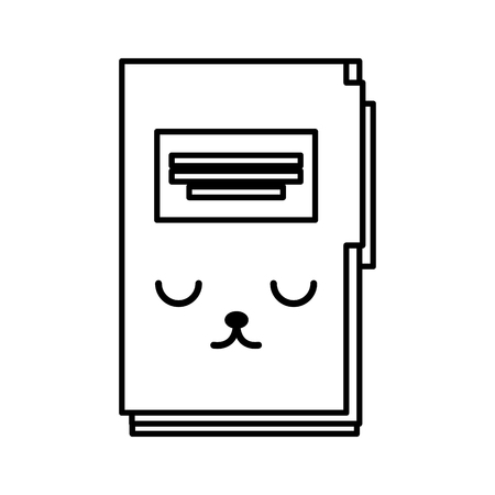 kawaii folder cartoon llustration graphic design icon Illustration