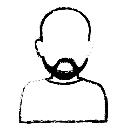 human face: Young man avatar character vector illustration design Illustration