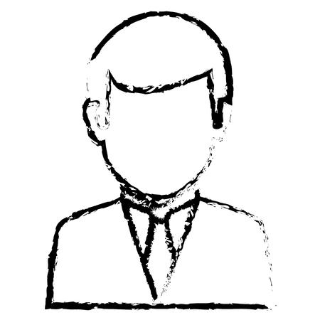 human face: businessman worker isolated icon vector illustration design Illustration