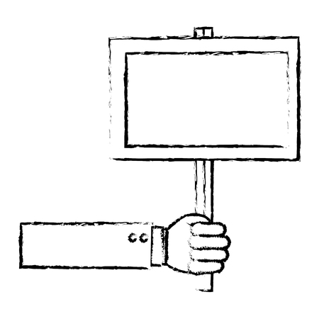 hand human with protest label vector illustration design 版權商用圖片 - 78975944