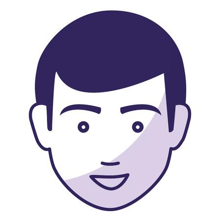 human face: young man avatar character vector illustration design