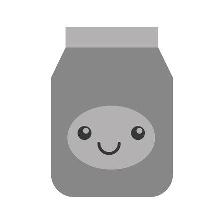 kawaii jelly jar cartoon vector illustratie grafisch ontwerp