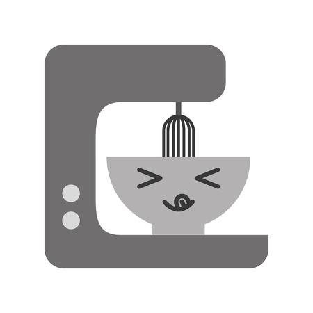 Kawaii mélangeur de cuisine dessin animé illustration vectorielle design graphique