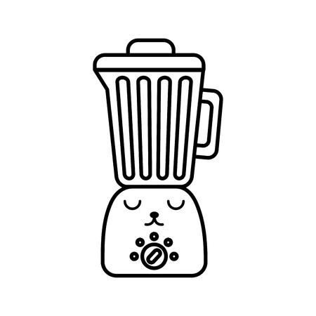 Kawaii blender cartoon vector illustration graphic design