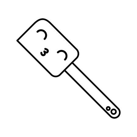 Kawaii silicone spatula cartoon vector illustration graphic design Illustration