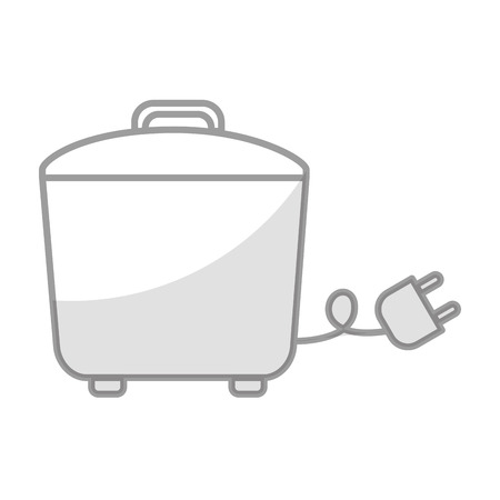 Shadow rice cooker vector illustration graphic design
