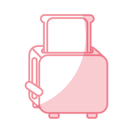 Shadow bread toaster vector illustration graphic design Illustration