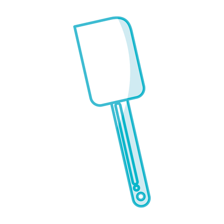 Shadow silicone spatula vector illustration graphic design