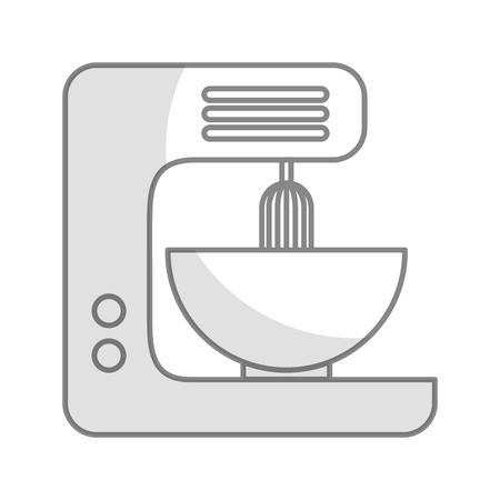 Shadow kitchen mixer vector illustration graphic design Иллюстрация