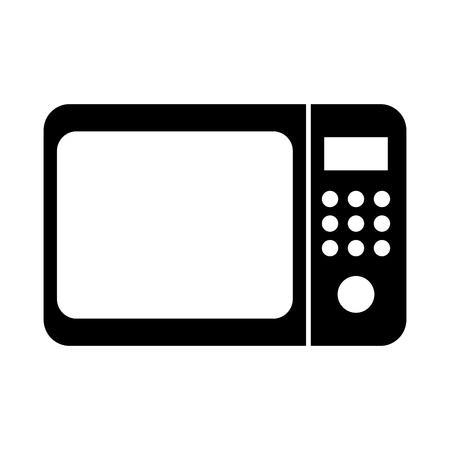 Black microwave vector illustration graphic design icon
