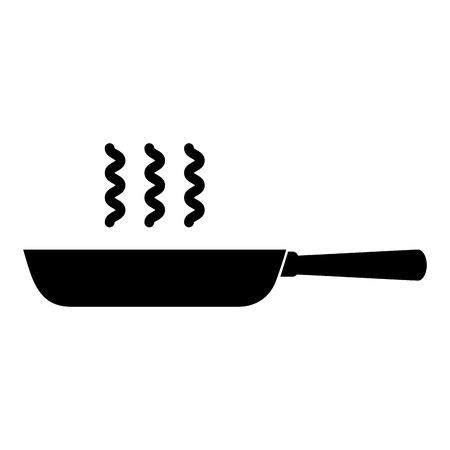 Zwarte Skillet vector illustratie grafisch ontwerp icoon Stock Illustratie