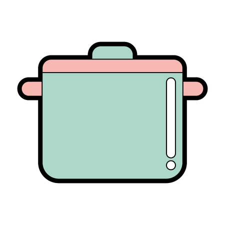 cute Cooking pot vector illustration graphic design