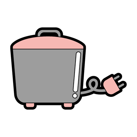 Cute rice cooker vector illustration graphic design