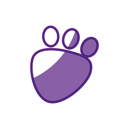 animal footprint icon over white background. vector illustration