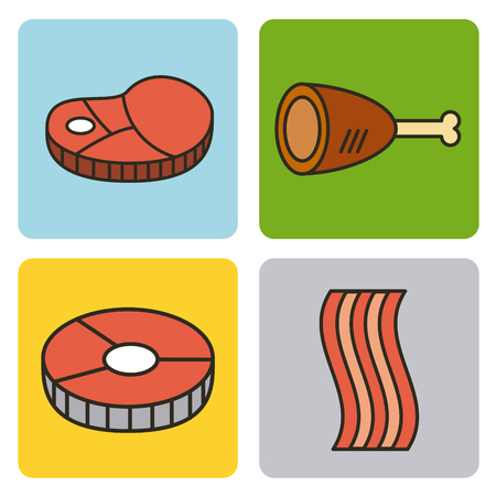 protein food illustration vector icon design graphic