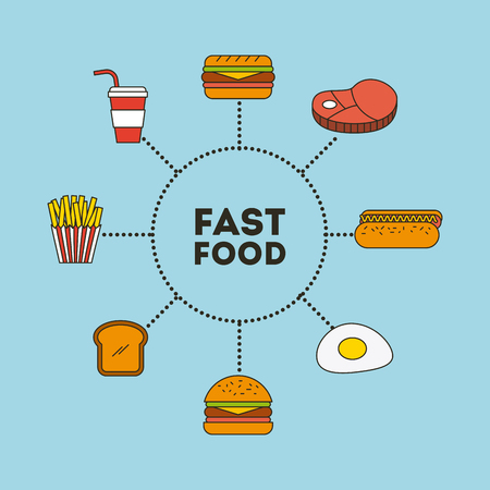 Fast food illustration icon vector design graphic colorful
