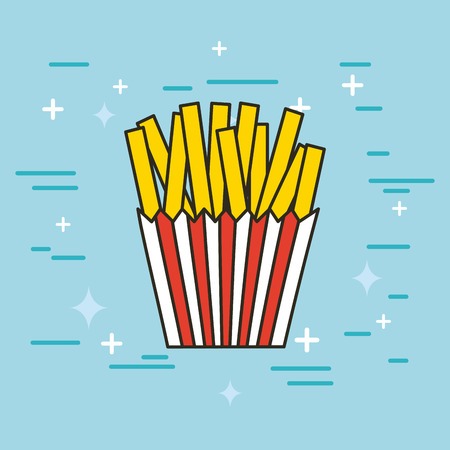 fast food illustration icon vector design graphic colorful