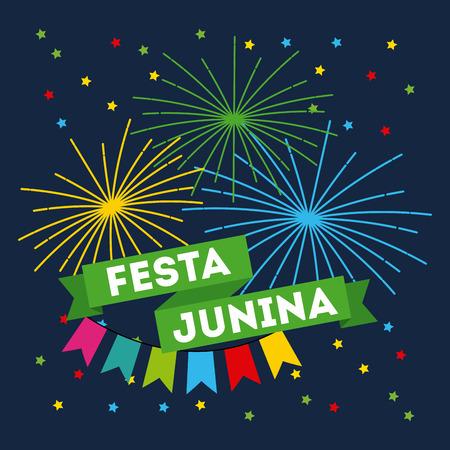 festivity june illustration icon vector design graphic colorful Illustration
