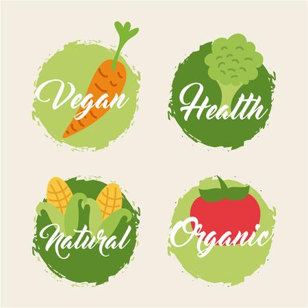 vecor: leaves organic icon vecor illustration design graphic
