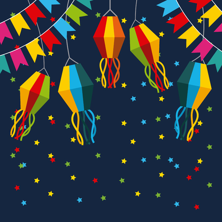 feestelijkheid juni illustratie pictogram vector ontwerp grafisch kleurrijk