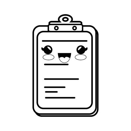 documentation: document holder paper smiley vector icon illustration Illustration