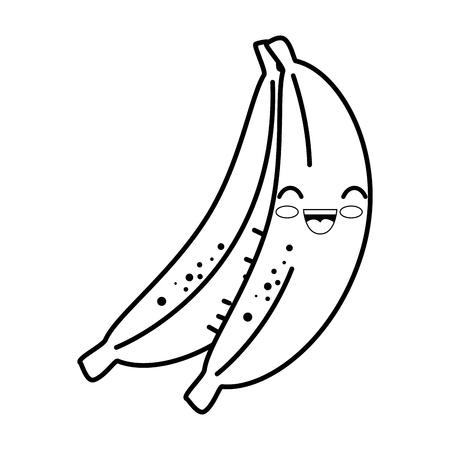 banana cartoon smiley vector icon illustration graphic design Ilustrace