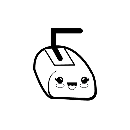 mouse cartoon smiley technology vector icon illustration graphic design