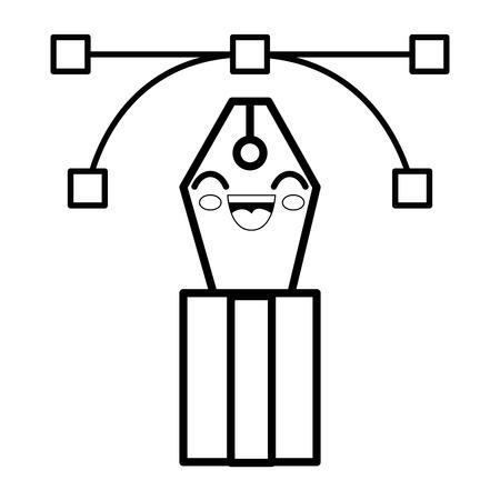 pen cartoon smiley vector icon illustration graphic design