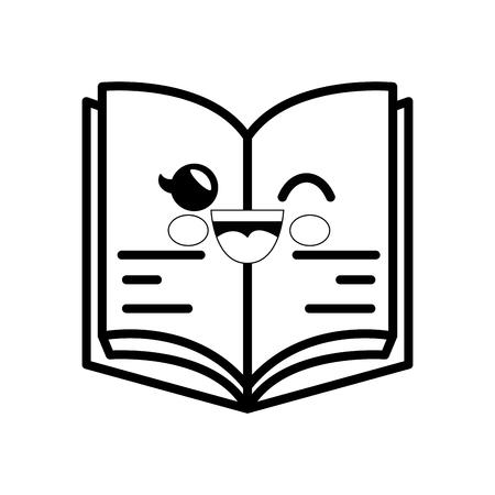 book cartoon smiley vector icon illustration graphic design
