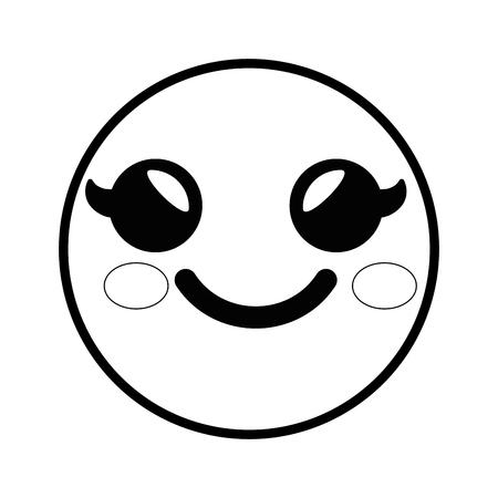 smiley cartoon childish vector icon illustration graphic design Ilustrace