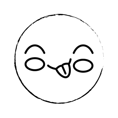 スマイリー漫画幼稚なベクター アイコン イラスト グラフィック デザイン 写真素材 - 79175383